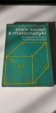 Zbiór zadań z matematyki szkoła średnia + Wysyłka 5zł