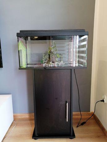 Akwarium z wyposażeniem + szafka juwel