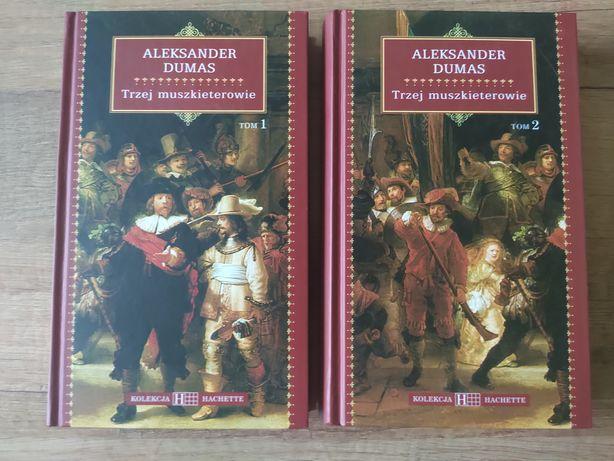 """2 tomy książki """"Trzej muszkieterowie"""" Aleksander Dumas"""