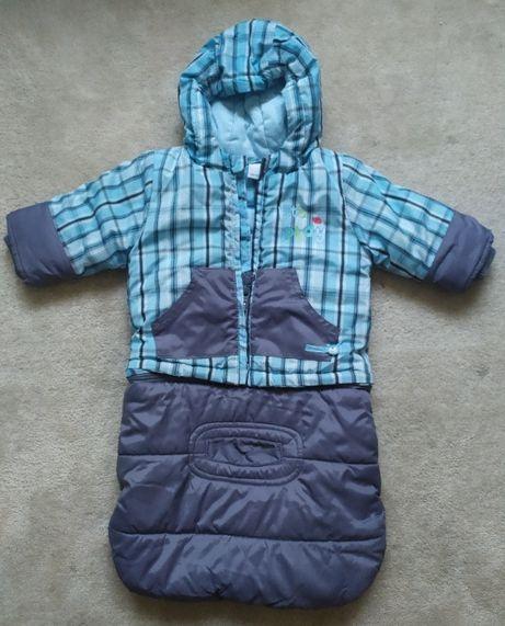 Coccodrillo kombinezon zimowy śpiworek kurtka dla niemowlaka 62 68