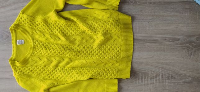Swetr Cropp plus kamizelka sweterkówa fredzle