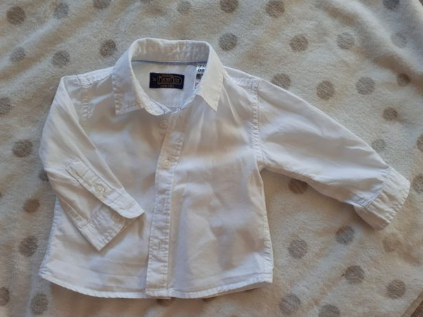 Koszula biała elegancka zara baby 68