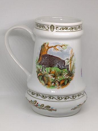 Porcelanowy kufel  Łowiectwo.Ćmielow