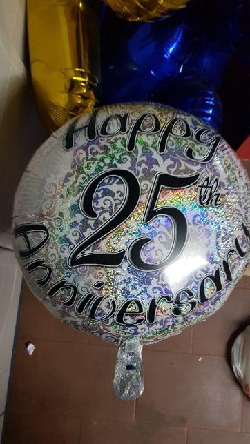 Balão Aniversário foil 25 anos