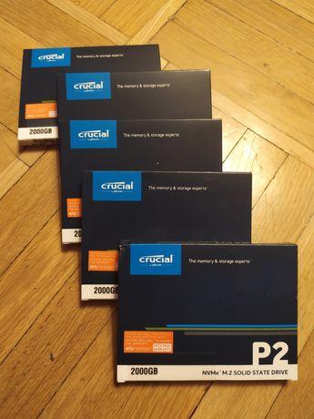 Crucial P2 SSD 2TB  2000gb M.2 NvMe