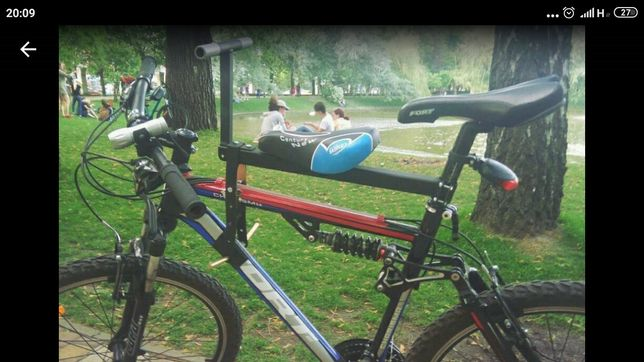 Велокресло. Детское, универсальное сидение на родительский велосипед