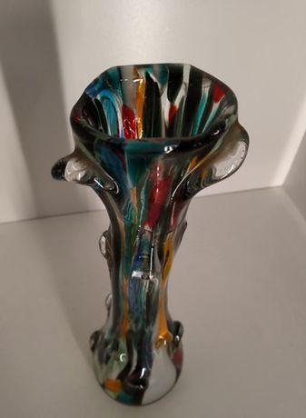 Wazon Sękacz PIĘKNY KOLOR ! Ząbkowice prl vintage stare kolorowe szkło