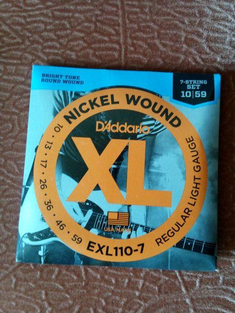 струни D'Addario EXL110-7 XL