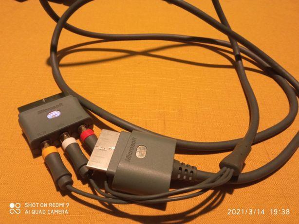 Oryginalny kabel AV xbox360 i adapter na euro