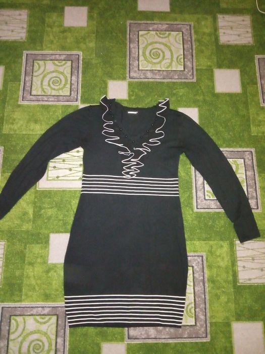 Трикотажное чёрное платье Воскресенка - изображение 1