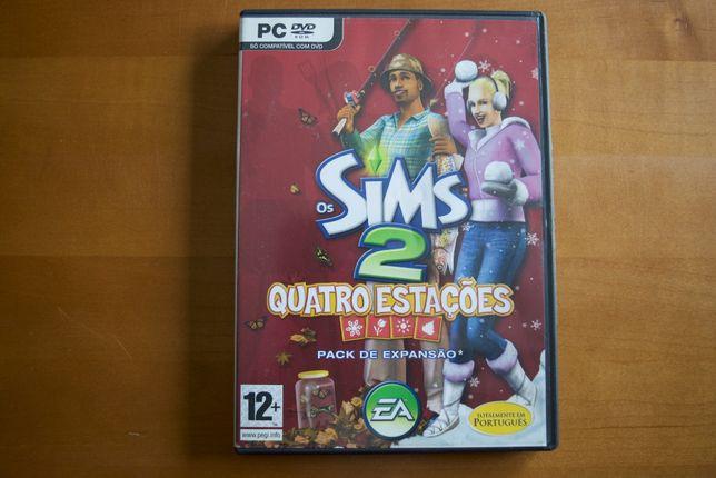 """Venda de jogo Os Sims 2 """"Quatro Estações"""" Disco de Expansão"""