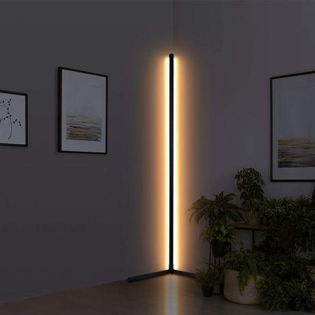Lampa podłogowa LED RGB nastrojowa lampa narożna z pilotem
