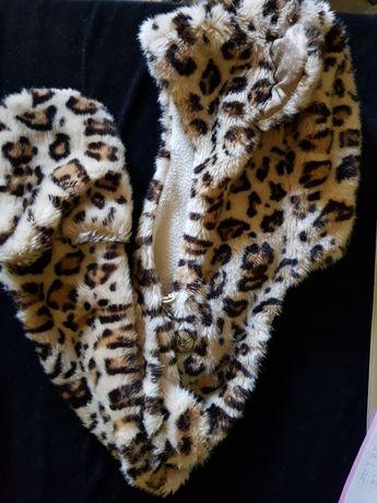 Czapka zimowa tygrys/pantera z rękawiczkami!