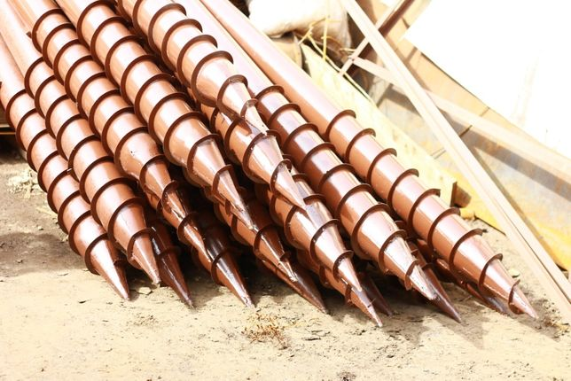 Свая винтовая (геошуруп) винтовой столб для домов из газобетона.