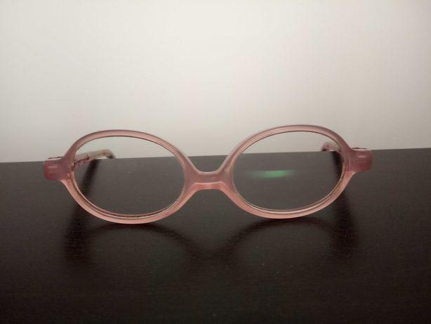 okulary oprawki dziecięce dla dziewczynki różowe