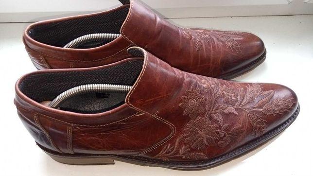Туфлі чоловічі шкіряні з з дизайнерскою обробкою