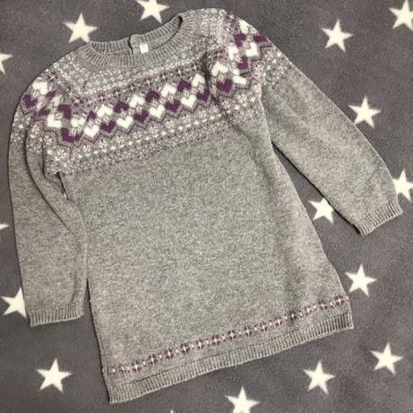 Тёплый свитер-платье. Итальянская фирма Idexe . 36 месяцев