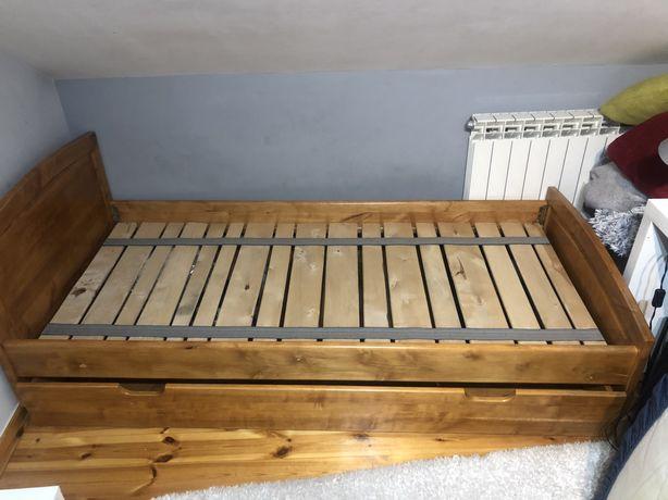 Łóżko z drzewa sosnowego 90x200