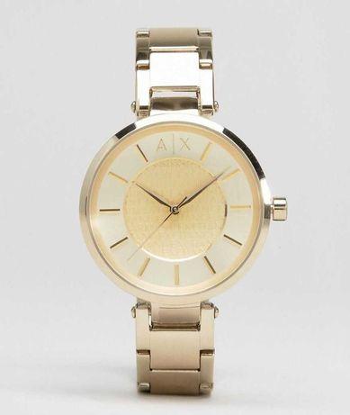 Złoty zegarek armani exchange damski