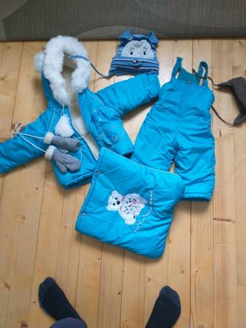 зимовий комбінезон трансформер 3 в 1. куртка 0 до 2 років