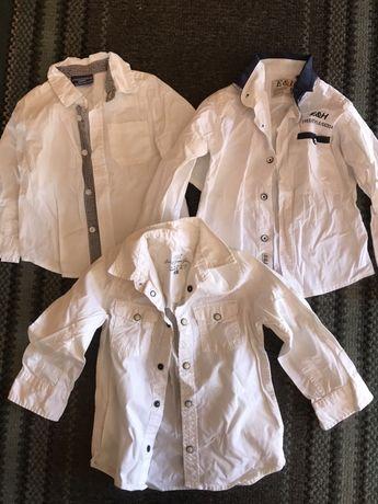 Białe koszule zestaw, r.86-92