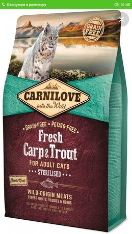 Сухий корм для стерилізованих кішок Carnilove Fresh з коропом і форелл