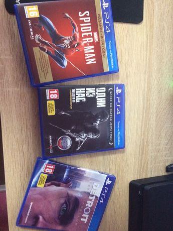 Продам игры PS4 Spider Man, Один из нас, Detroit