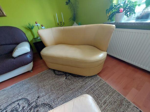 Fotel 1 i fotel 2, skóra pufy skórzane