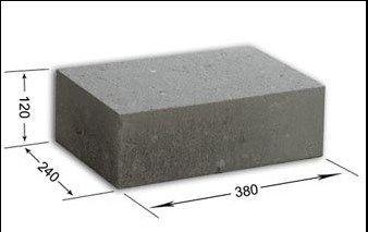 Bloczek fundamentowy,betonowy 12x24x38 B-6 transport HDS