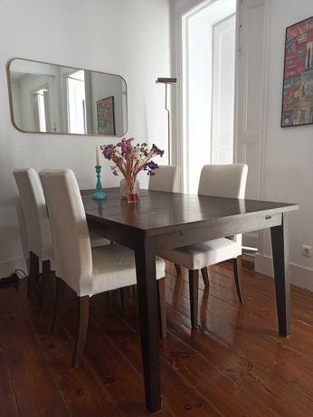 Mesa de jantar extensível 100 x 200/240/280