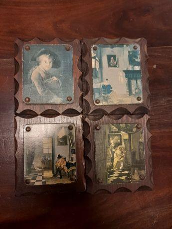 Obrazki stare na desce