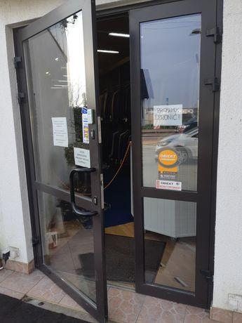 Drzwi aluminiowe z demontażu