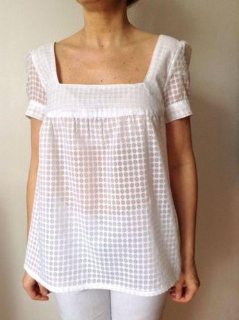 Bluzka H&M- letnia w kolorze bialym. Rozmiar M.