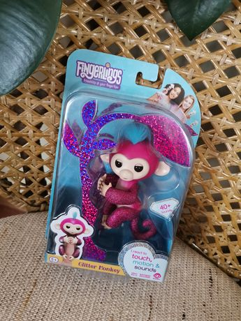 Игрушка кукла интерактивная обезьянка Fingerlings