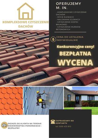 Mycie czyszcenie elewacji dachow oraz kostki