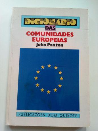 """Livro""""dicionário das comunidades europeias""""- John Paxton -1986"""