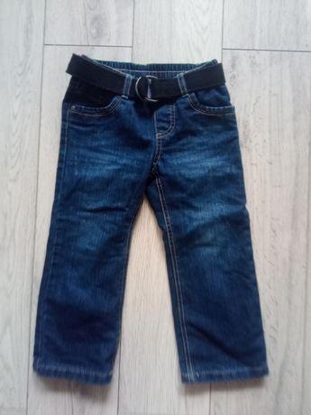 Ocieplone spodnie zimowe 98 dżinsy