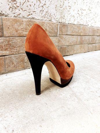 Туфли на каблуке, замш
