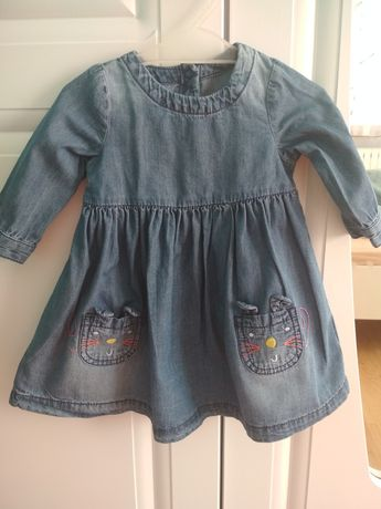 Sukienka jeansowa niemowlęca