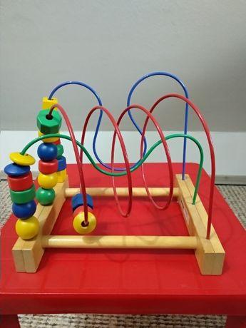 Zabawka edukacyjna przeplatanka kolejka labirynt