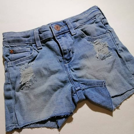 Джинсовые шорты H&M 4-5 лет на девочку