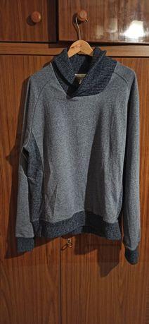 Męska bluza-sweter stalowoszara NIEUŻYWANE