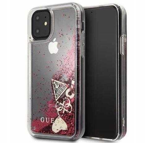Guess Case do iphone 11 raspberry Etui Gusess