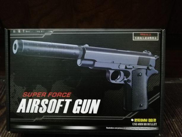 Пистолет с глушителем металлический