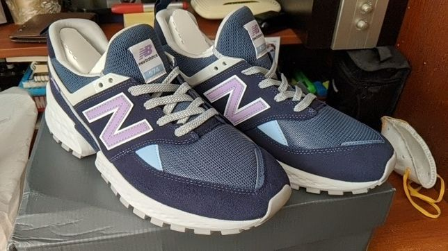 New Balance 574 sport Navy with White (размер 46)