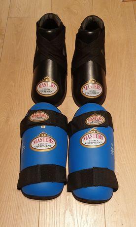 Ochraniacze MASTERS na piszczele i stopy rozmiar M