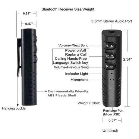 Bluetooth 4.2 Автомобильный Комплект Hands Free Аудио Приемник Адаптер