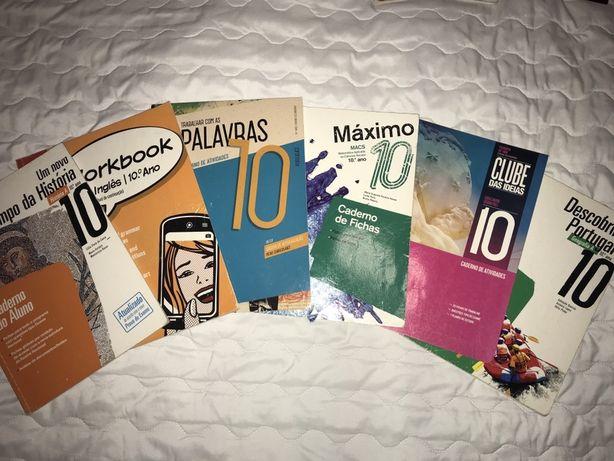 Caderno de atividades / fichas  10 ° ano ingles , macs , geografia ...