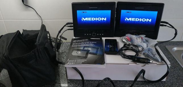 DVD portátil Medion 2 ecrãs