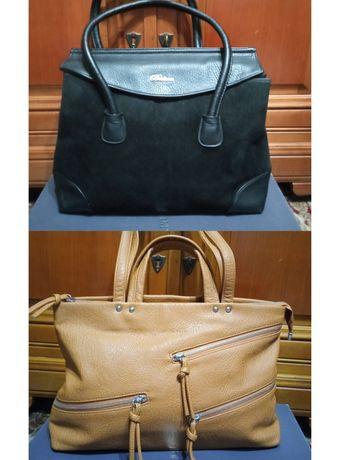 Продам сумки черная и светло коричневая